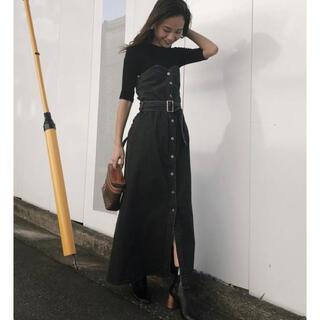 アメリヴィンテージ(Ameri VINTAGE)のDENIM UNIFY DRESS(ロングスカート)
