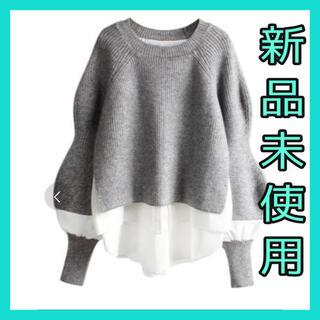 ナルシス(Narcissus)のニット レイヤードニット シャツ 未使用 韓国 韓国服 ZARA(ニット/セーター)