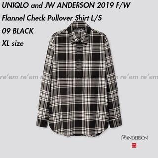 ジェイダブリューアンダーソン(J.W.ANDERSON)のUniqlo JW ANDERSON フランネルチェックプルオーバーシャツ XL(シャツ)