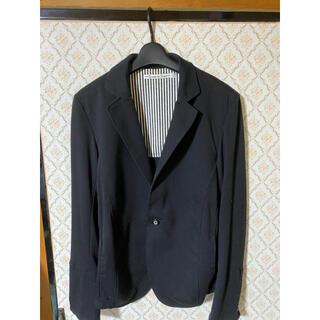 テーラードジャケット 黒 セットアップ モノクロ(テーラードジャケット)
