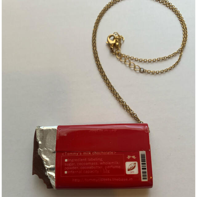 Q-pot.(キューポット)のTiTi 板チョコネックレス ハンドメイドのアクセサリー(ネックレス)の商品写真