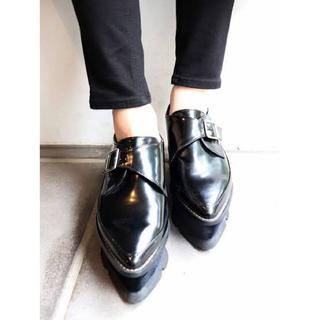 ムルーア(MURUA)のMURUA ベロアソール厚底ローファー 35(ローファー/革靴)
