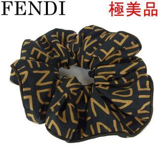 フェンディ(FENDI)のフェンディ 極美品 ロゴ シュシュ ヘアバンド ヘアゴム ヘア アクセサリー(ヘアゴム/シュシュ)