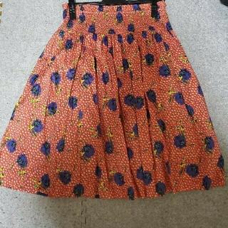ロイスクレヨン(Lois CRAYON)のロイスクレヨン リバティプリント スカート(ひざ丈スカート)