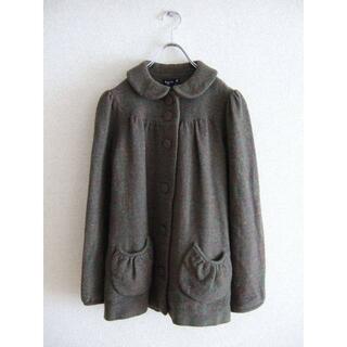 アニエスベー(agnes b.)の美品 agnis b. アニエスベー ツイードミックスカラーコート36ジャケット(ブルゾン)