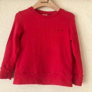 ムージョンジョン(mou jon jon)の【Mou jonjon】赤トレーナーsize100(Tシャツ/カットソー)