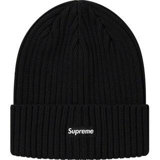 シュプリーム(Supreme)のSupreme overdyed beanie black 20ss(ニット帽/ビーニー)