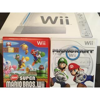 ウィー(Wii)のなつき様専用 Nintendo Wii 本体、マリオカート、マリオブラザーズ(家庭用ゲーム機本体)