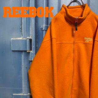 リーボック(Reebok)の美品 リーボック ボアフリース フルジップ オーバーサイズ ゆるだぼ 刺繍ロゴ(ブルゾン)