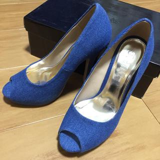 DURAS(デュラス)の未使用デニムパンプス Sサイズ レディースの靴/シューズ