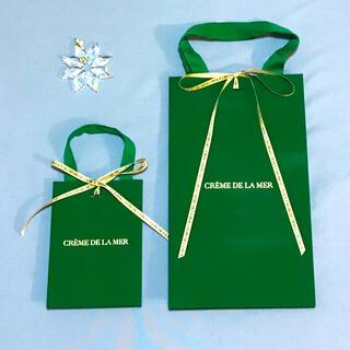 ドゥラメール(DE LA MER)の【ドゥラメール】ショップ袋2枚+リボン2本セット(ショップ袋)