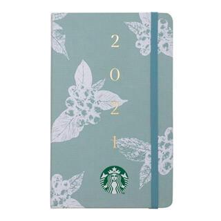 スターバックスコーヒー(Starbucks Coffee)の台湾 スターバックス 手帳 スケジュール帳 2021年 ミントグリーン(カレンダー/スケジュール)