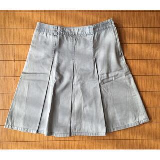 エムケークランプリュス(MK KLEIN+)のMK KLEIN 水色無地スカート(ひざ丈スカート)