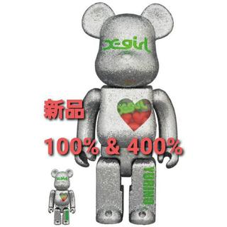 エックスガール(X-girl)の新品 BE@RBRICK X-girl × YURINO 100%&400%(その他)