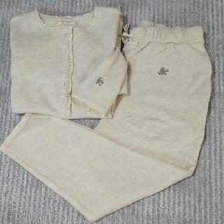 サマンサモスモス(SM2)の新品 sh刺繍ワッフルヘンリープルオーバー&パンツセット(ルームウェア)