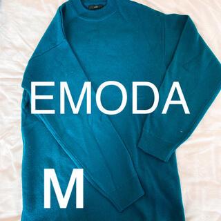 エモダ(EMODA)の【美品】EMODA ターコイズニットワンピース(ひざ丈ワンピース)