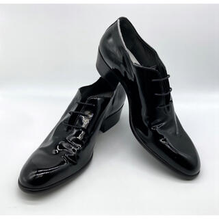 Maison Martin Margiela - マルタンマルジェラ レースアップ エナメル 革靴 ヒールブーツ