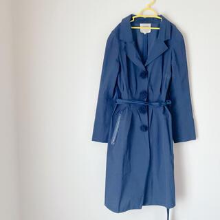 ランバンオンブルー(LANVIN en Bleu)のLANVIN en Bleu ネイビー ロングトレンチコート(トレンチコート)