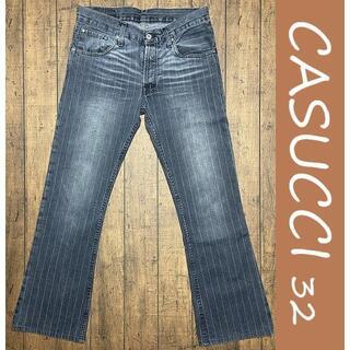 カスッチ(CASUCCI)のCASUCCI ブーツカットデニム 32/カスッチ、ストライプ(デニム/ジーンズ)
