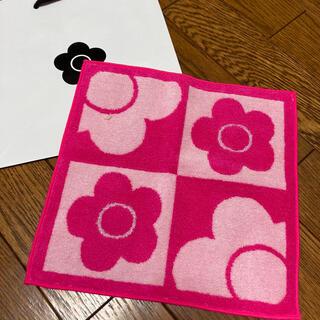 マリークワント(MARY QUANT)の新品 マリークワント タオルハンカチ ピンク(ハンカチ)