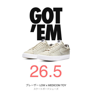 ナイキ(NIKE)のMEDICOM TOY×NIKE SB BLAZER LOW BE@RBRICK(スニーカー)