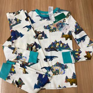 エイチアンドエム(H&M)の新品タグ付き135〜140薄手長袖パジャマ 綿100% 動物柄.12(パジャマ)