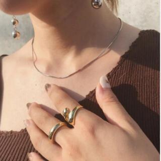 フリークスストア(FREAK'S STORE)のsilver925 snake chain necklace-40cm-(ネックレス)