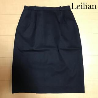 レリアン(leilian)のレリアン Leilian タック入りタイトスカート ネイビー(ひざ丈スカート)