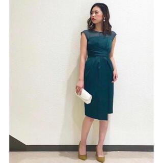 ラグナムーン(LagunaMoon)のLADYシアーラップタイトドレス(ミディアムドレス)
