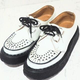 ジョージコックス(GEORGE COX)のジョージコックス ラバーソール 3588 ホワイト 24.5cm(ローファー/革靴)