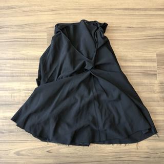 コムデギャルソン(COMME des GARCONS)のJUNYA WATANABE アシンメトリー デザインスカート ブラック(ひざ丈スカート)