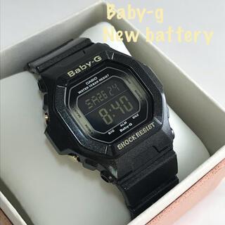 カシオ(CASIO)のBaby-g casio レディース ブラック bg-5600黒 電池新品 美品(腕時計)