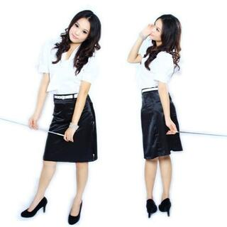 ol2秘書コスプレ 女教師コスプレ ボウタイ付きブラウス 女子制服OL風コスチュ(衣装一式)