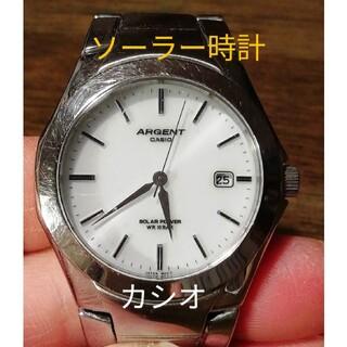 カシオ(CASIO)のラ225. ソーラー時計 カシオ・エージェント デイト(腕時計(アナログ))