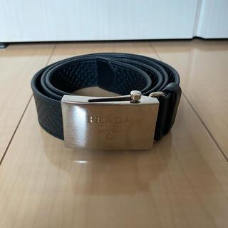 プラダ(PRADA)のPRADA プラダ 美品 パンチングレザーベルト ブラックサイズフリー(ベルト)