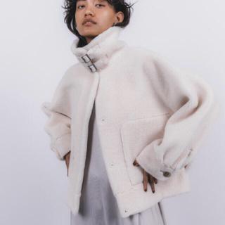 スタニングルアー(STUNNING LURE)のエコムートンショートジャケット スタニングルアー  アイボリー 0サイズ(ムートンコート)