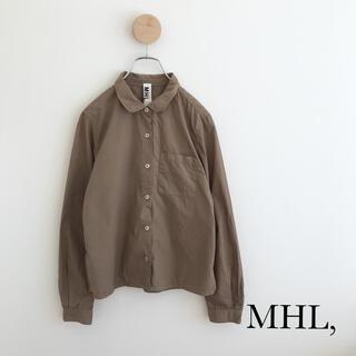 マーガレットハウエル(MARGARET HOWELL)のMHL,・コットンシャツ・カーキ(シャツ/ブラウス(半袖/袖なし))