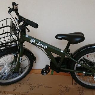 ジープ(Jeep)のJEEP 18インチ 自転車(補助輪付き)(自転車)