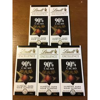 リンツ(Lindt)のリンツ ダークチョコレート エクセレンス90%カカオ 5枚 (菓子/デザート)