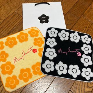 マリークワント(MARY QUANT)の新品 マリークワント ハンカチ 黒とオレンジ(ハンカチ)