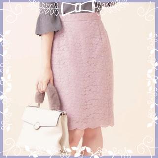 プロポーションボディドレッシング(PROPORTION BODY DRESSING)の♡レースフロッキースカート♡(ひざ丈スカート)