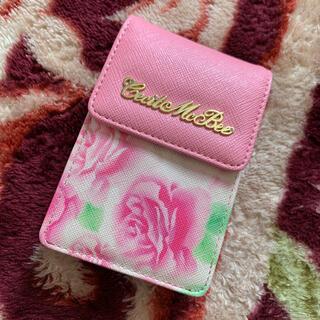 セシルマクビー(CECIL McBEE)のタバコケース ピンク 花柄 セシルマクビー(タバコグッズ)