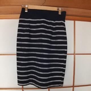 アクアガール(aquagirl)のボーダー ジャージー スカート(ひざ丈スカート)