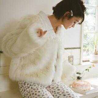 《即納》fur lace collar coat(毛皮/ファーコート)