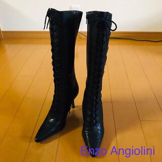 エンゾーアンジョリーニ(Enzo Angiolini)の【新品】エンゾーアンジョリーニ 黒 ロングブーツ(ブーツ)