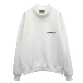 エッセンシャル(Essential)のLサイズ essentials Mockneck Fleece ホワイト(スウェット)