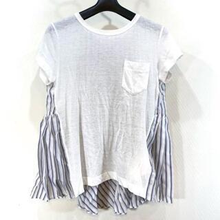 サカイ(sacai)のSacai(サカイ) 半袖カットソー サイズ3 L -(カットソー(半袖/袖なし))