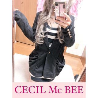 セシルマクビー(CECIL McBEE)の2830.CECIL Mc BEE 薄手羽織り ジャケット型 ポケット(テーラードジャケット)