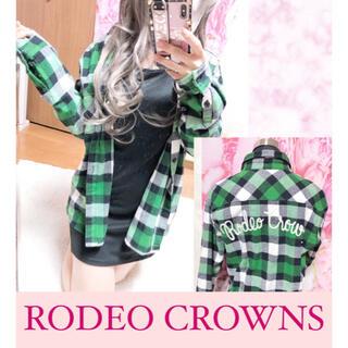 ロデオクラウンズ(RODEO CROWNS)の2831.RODEO CROWNS チェック柄 厚手 バックロゴ チェックシャツ(シャツ/ブラウス(長袖/七分))