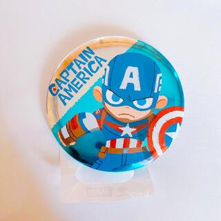 マーベル(MARVEL)のディズニーストア マーベル キャプテン・アメリカ 缶バッジ グリヒル(バッジ/ピンバッジ)